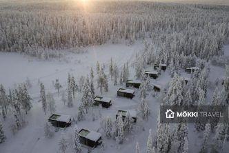 Huisjes in de sneeuw lapland
