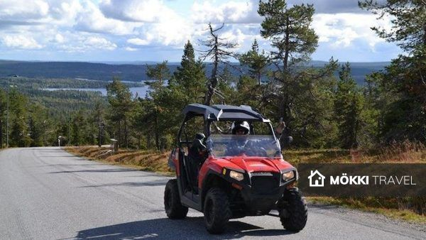 Man in quad in lapland