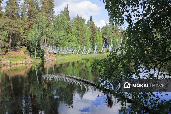 Brug bij Oulanka National Park
