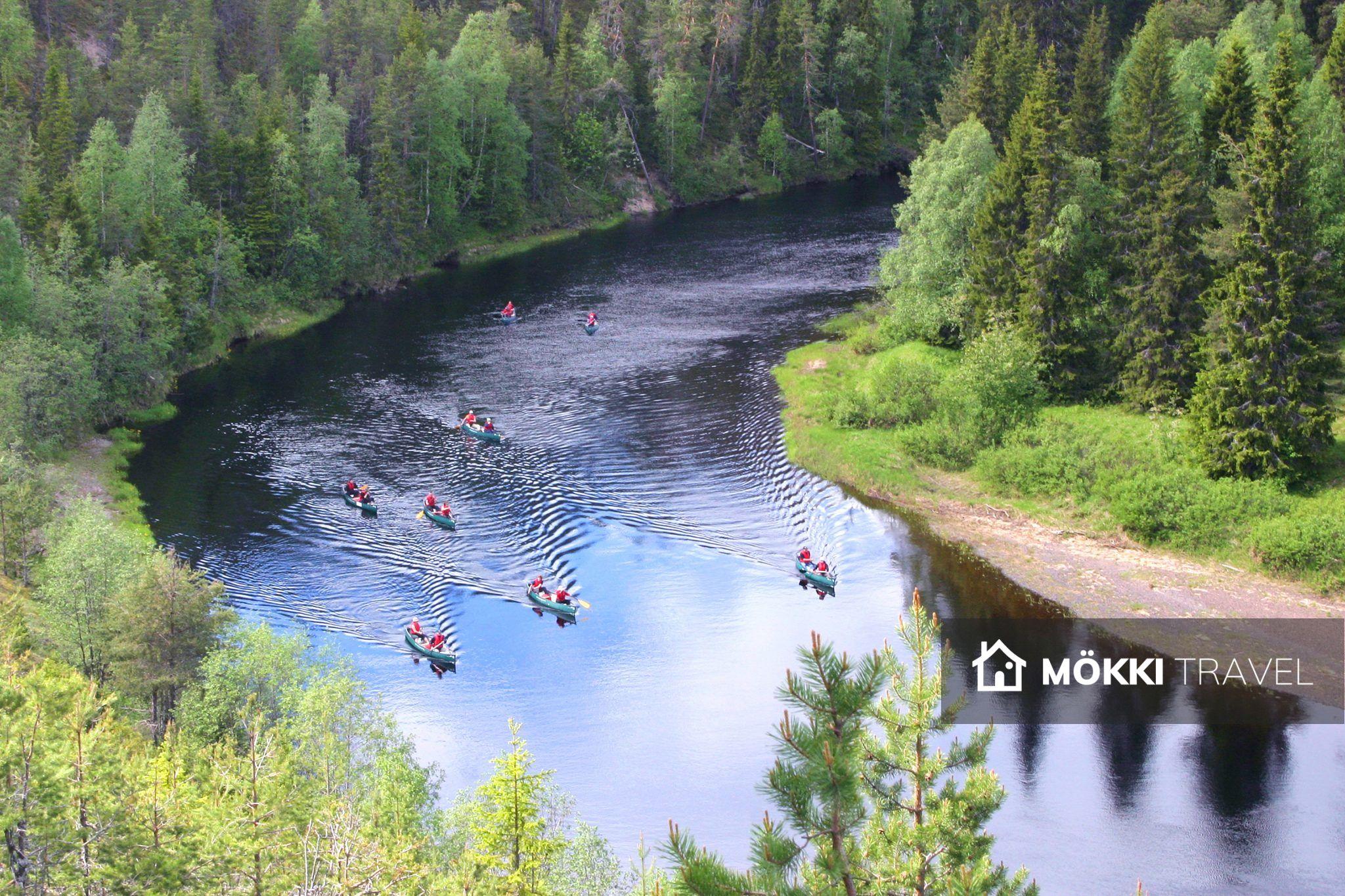 Kanoën op Oulanka rivier